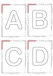 upper case alphabet tiles